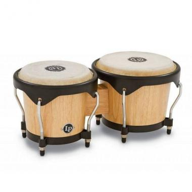 Latin percussion lp601ny-aw bongos in legno naturale
