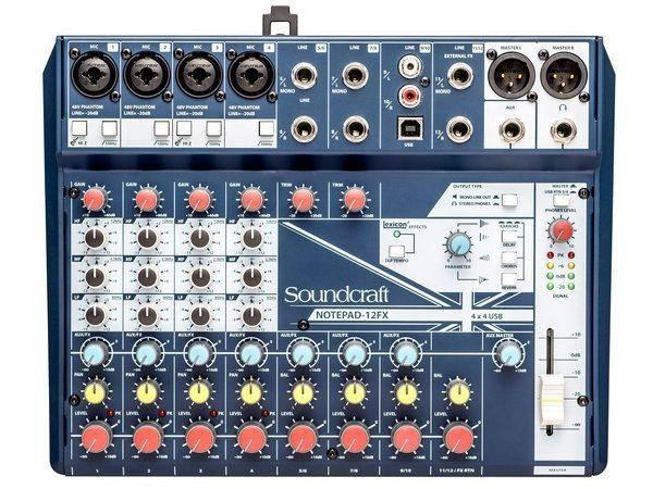 Soundcraft notepad 12fx mixer usb
