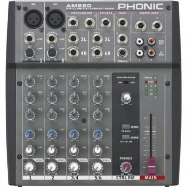 Phonic am220 mixer analogico a 4 canali