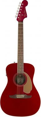 Fender malibu player candy apple red chitarra acustica elettrificata
