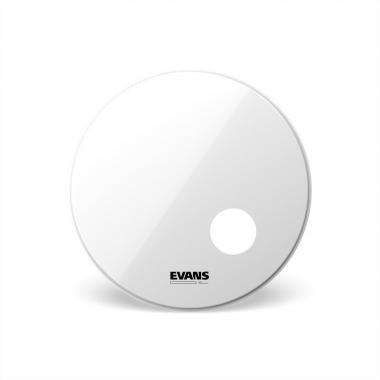 EVANS BD24RSW EQ3 RESONANT SMOOTH WHITE PELLE 24""